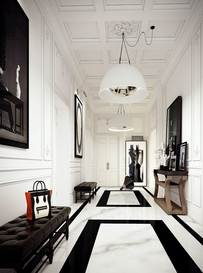 black white floor