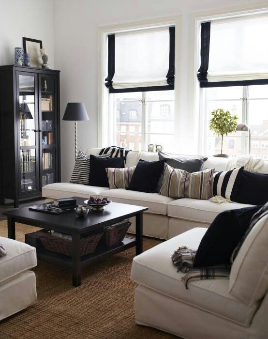 black window treatments