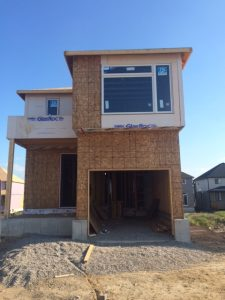 Construction Photo- Framing Stage Front Elevation